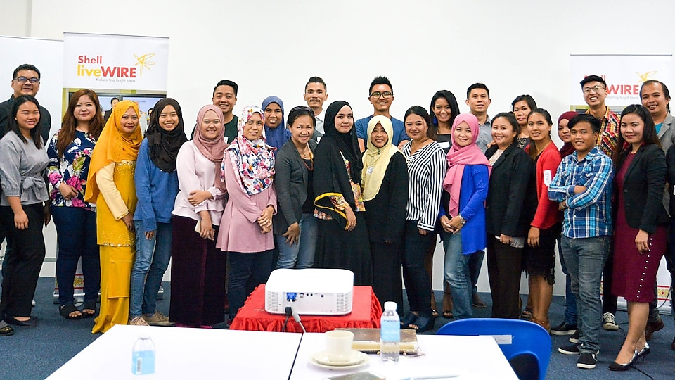 Entrepreneurs and Facilitators at the Bright Ideas Workshop in Penampang