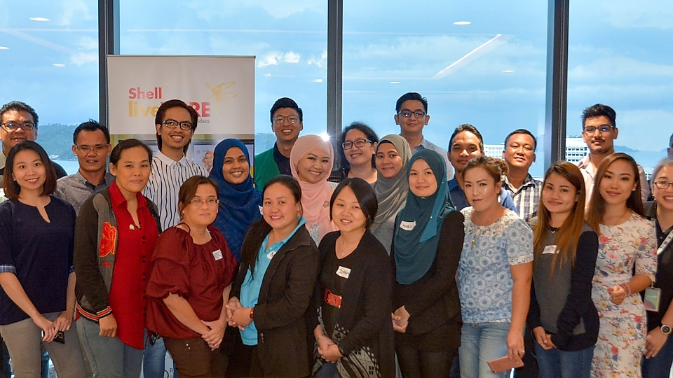 Group of Entrepreneurs and Facilitators in the Bright Ideas Workshop in Kota Kinabalu