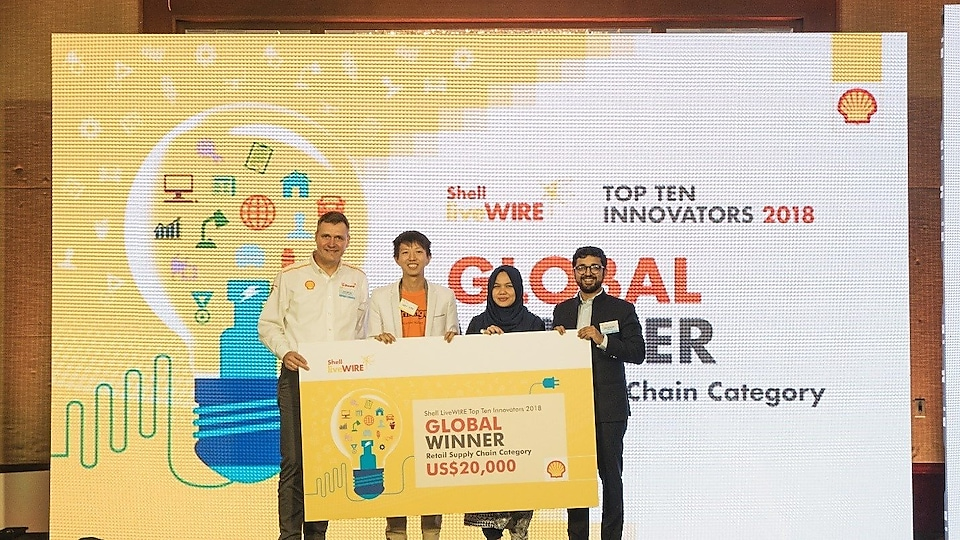 Jeff Wee of WormingUp at the 2018 Global LiveWIRE Top Ten Innovators Award Ceremony